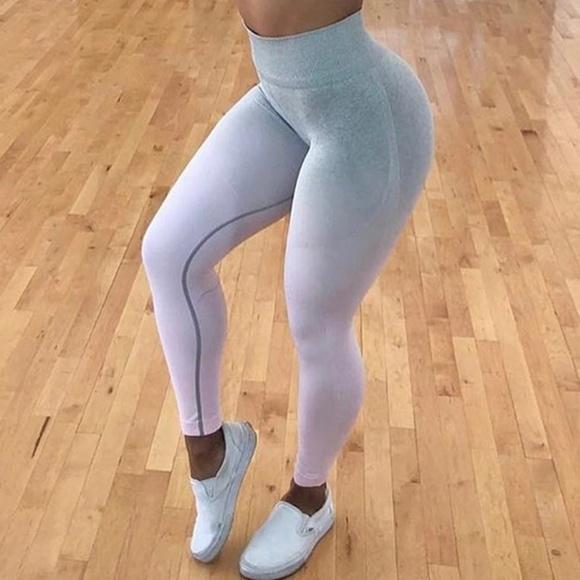 5d91f7a52f52f3 Ali Express Pants - Ombre Seamless Leggings Chalk Pink ALIEXPRESS DUPE